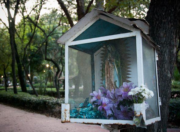 park altar, Mexico City