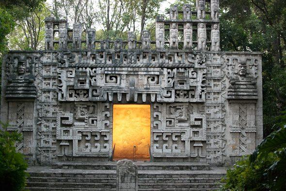Ancient shruggie, Courtyard at Museo Nacional de Antropología, Mexico City