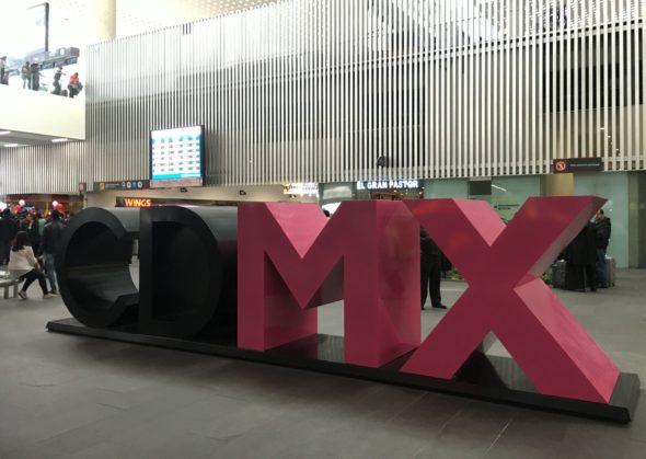 CDMX sign at Mexico City airport